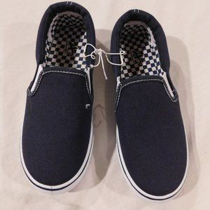 Athletech Boys Slip On Canvas Sneakers Shoes NAVY